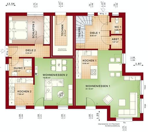 Bien Zenker - CELEBRATION 207 V2 Floorplan 1