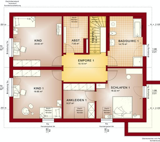 Bien Zenker - CELEBRATION 207 V2 Floorplan 2