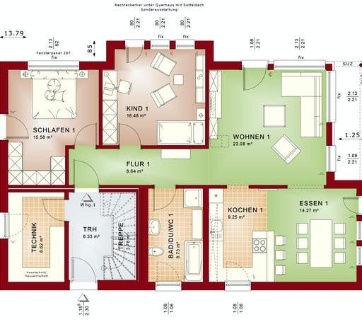 Bien Zenker - CELEBRATION 211 V2 Floorplan 1