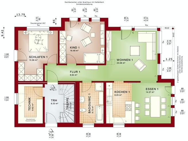 CELEBRATION 211 V2 von Bien-Zenker Grundriss 1