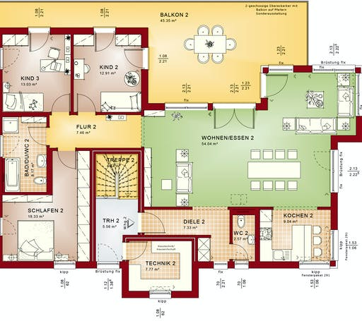 Bien Zenker - CELEBRATION 282 V4 Floorplan 2