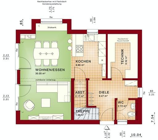 Bien Zenker - EDITION 120 V4 Exterior floorplan 1