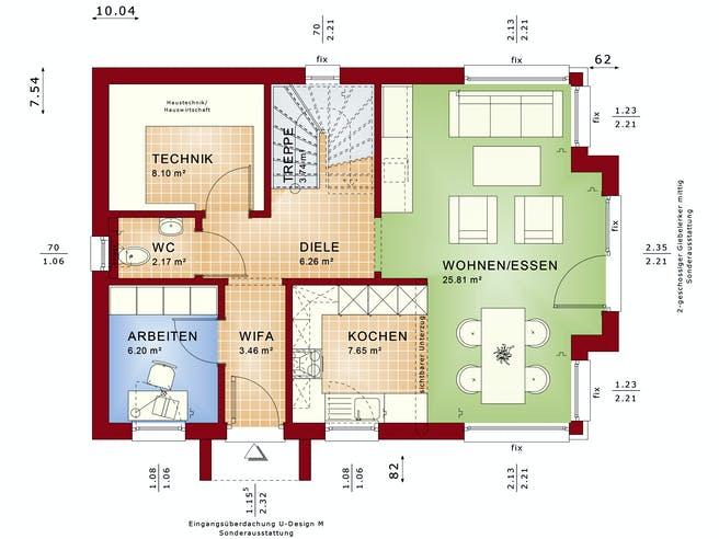 Bien Zenker - EDITION 123 V2 Exterior Floorplan 1