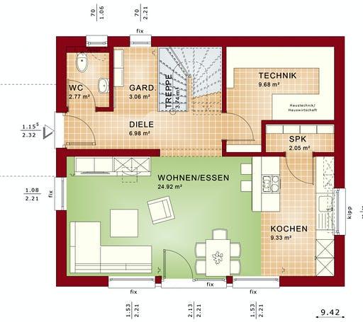 Bien Zenker - EDITION 125 V3 Interior floorplan 1