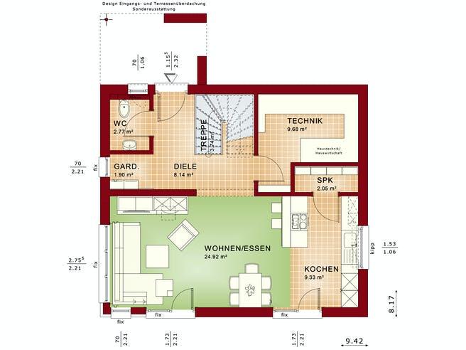 EDITION 125 V4 von Bien-Zenker Grundriss 1
