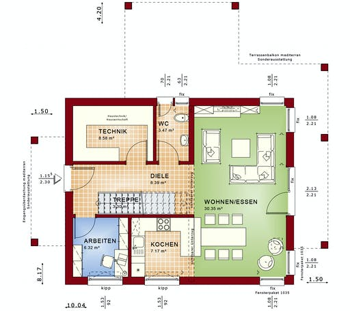 Bien Zenker - Evolution 134 V7 Floorplan 1