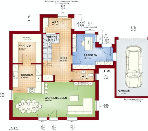 Bien Zenker - Evolution 143 V6 Floorplan 1