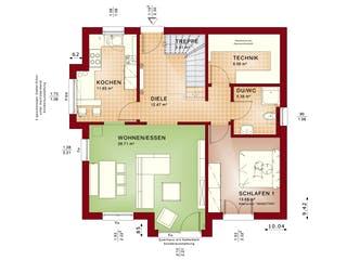 EVOLUTION 152 V4 von Bien-Zenker Grundriss 1