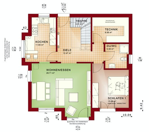 Bien Zenker - Evolution 152 V6 Floorplan 1