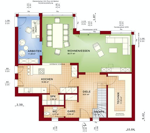 Bien Zenker - Evolution 154 V8 Floorplan 1
