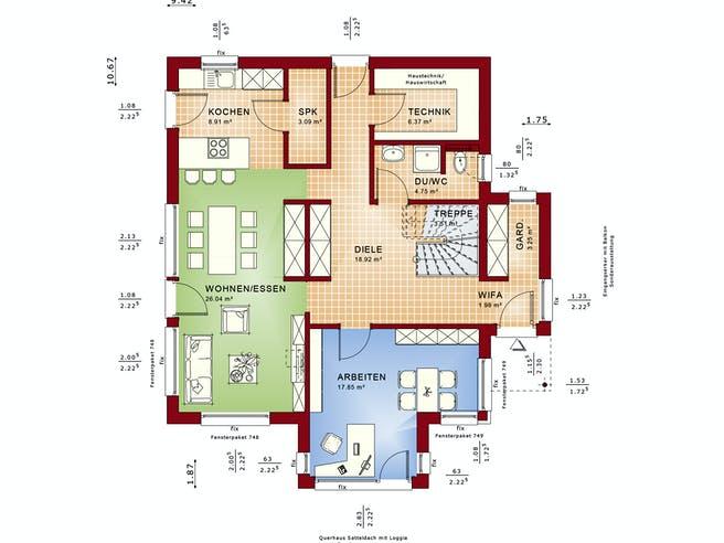 FANTASTIC 165 V4 von Bien-Zenker Grundriss 1