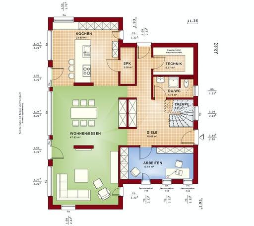 Bien Zenker - Fantastic 165 V7 Floorplan 1