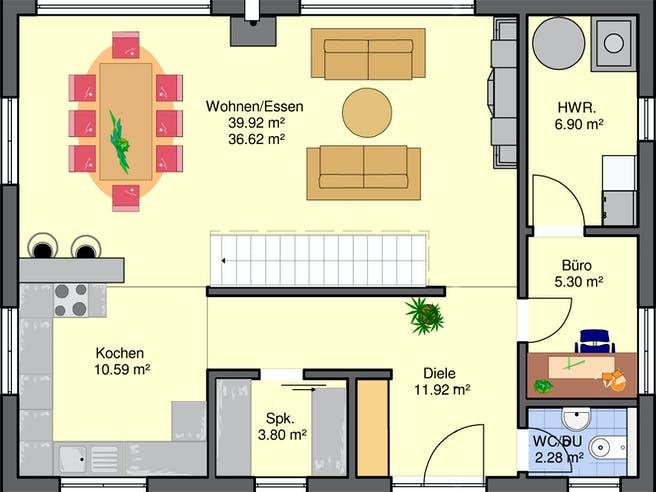 Calore von Büdenbender Hausbau Grundriss 1