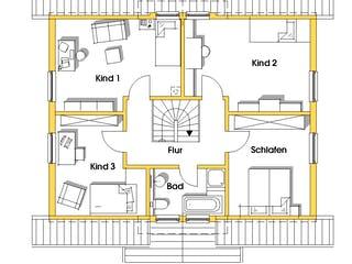 Carmen (KfW-Effizienzhaus 40) von Dammann-Haus Grundriss 1