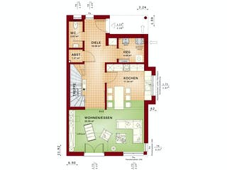 CELEBRATION 135 V4 XL von Bien-Zenker Grundriss 1