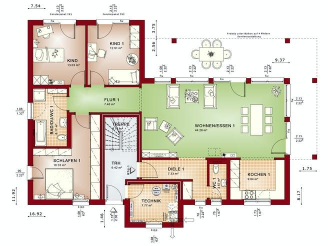 CELEBRATION 282 V3 von Bien-Zenker Grundriss 1