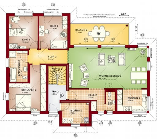Fertighaus celebration 282 v4 von bien zenker for Floor plans for 160 000