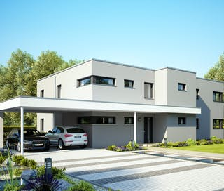Bekannt Ein Haus mit Flachdach planen & bauen - Häuser & Infos   Fertighaus.de JU02