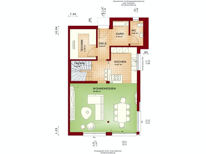 CELEBRATION 122 V7 XL Floorplan 1