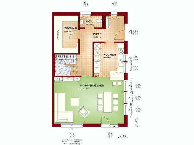 CELEBRATION 139 V2 L Floorplan 1