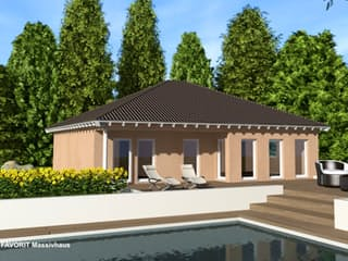 Chalet 111 von Favorit Massivhaus Außenansicht 1