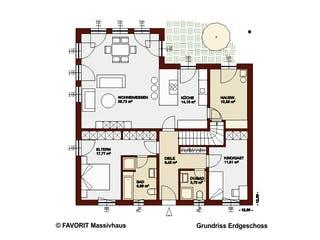 Chalet 115 von Favorit Massivhaus Grundriss 1
