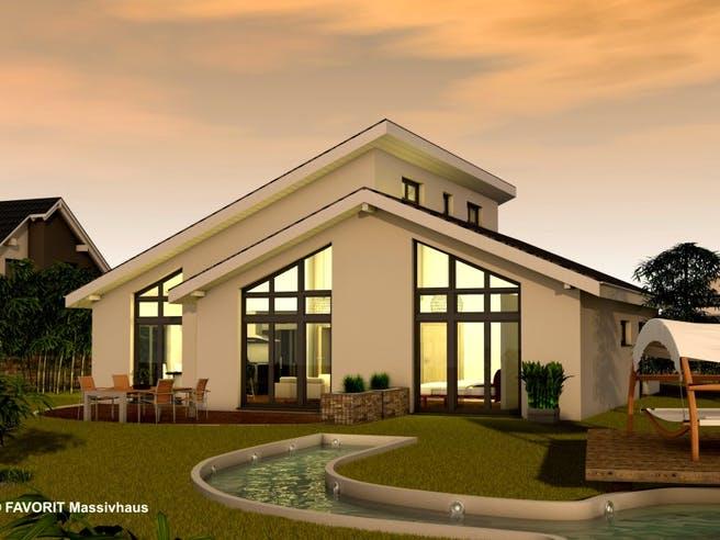 Chalet 132 von Favorit Massivhaus Außenansicht 1