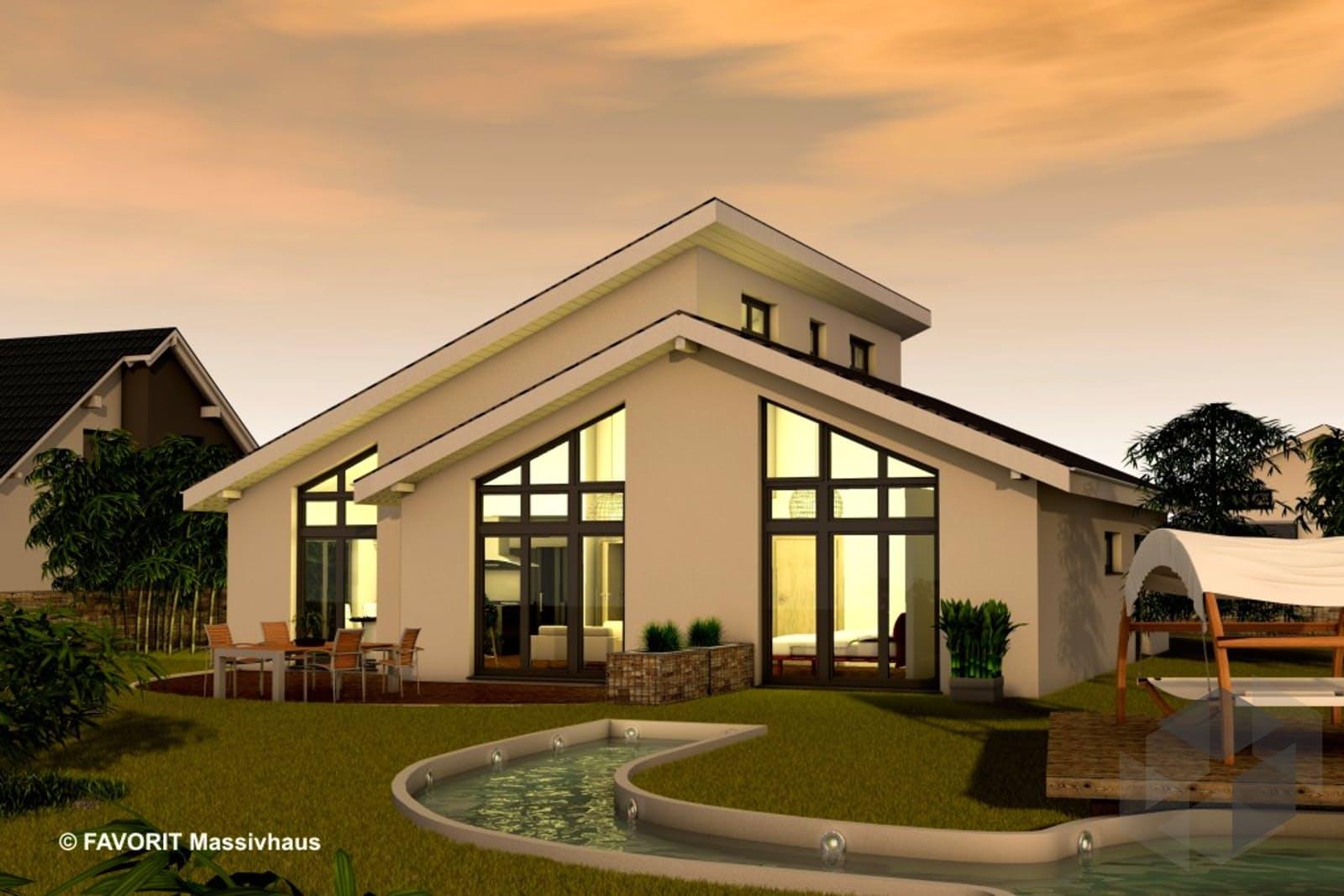 Chalet 132 von favorit massivhaus for Massivhaus modern
