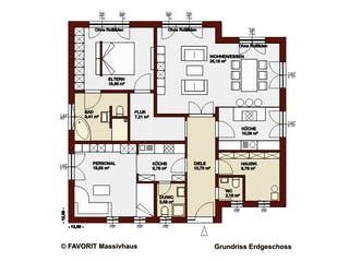 Chalet 132 von Favorit Massivhaus Grundriss 1