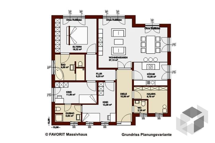 Favorit Haus chalet 132 favorit massivhaus komplette datenübersicht