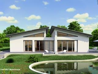Chalet 135 von Favorit Massivhaus Außenansicht 1