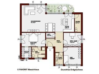 Chalet 135 von Favorit Massivhaus Grundriss 1