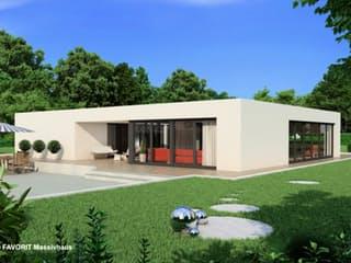 Chalet 153 von Favorit Massivhaus Außenansicht 1