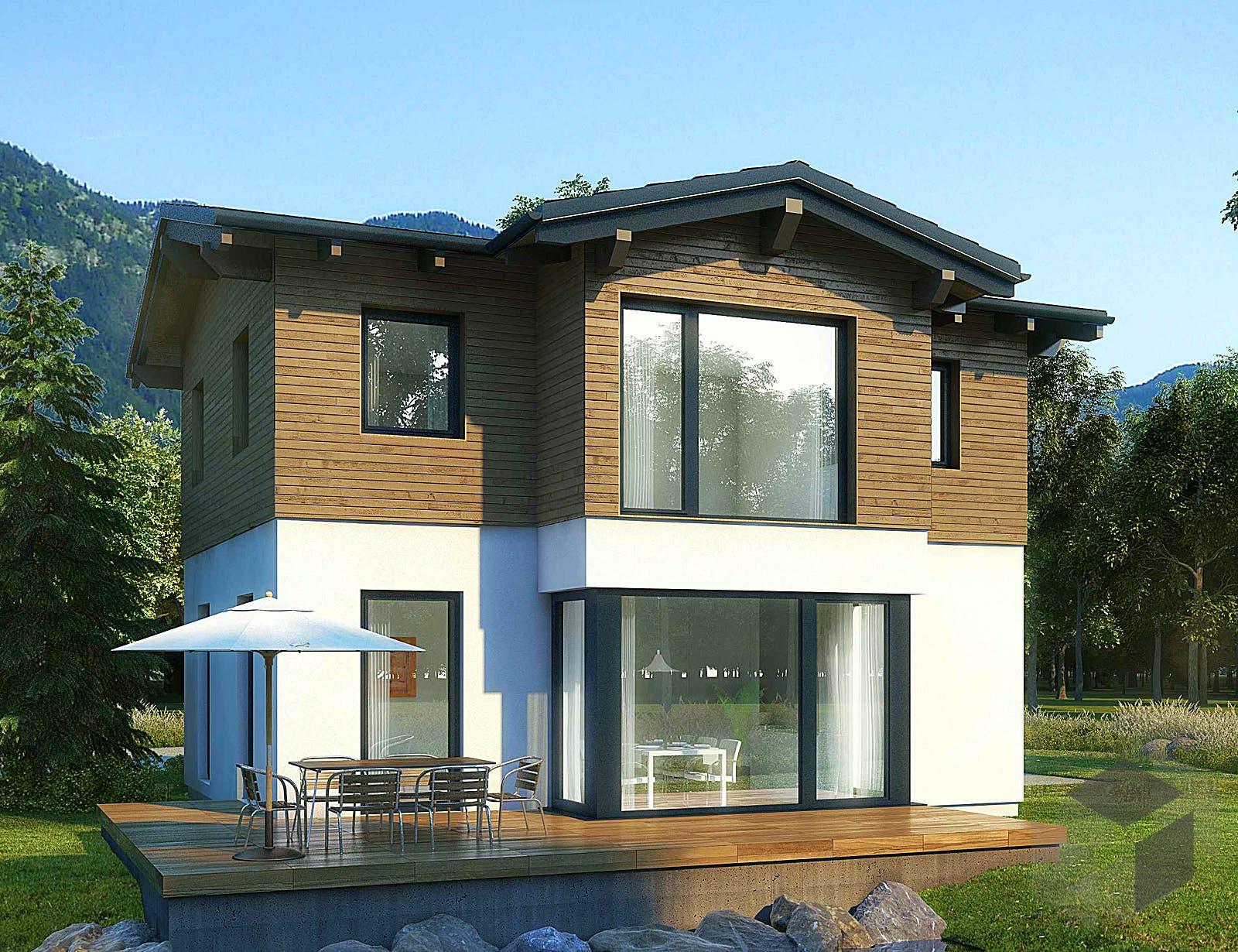 fertighaus charm 117 von rubner haus. Black Bedroom Furniture Sets. Home Design Ideas
