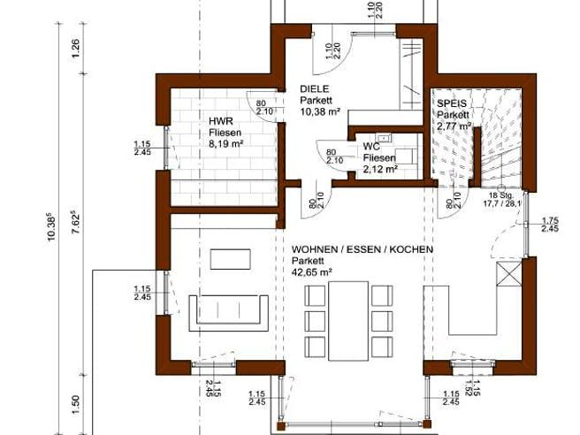 Charme 117 von Rubner Haus Grundriss 1