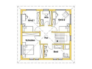 Christine 2 (KfW-Effizienzhaus 40) von Dammann-Haus Grundriss 1
