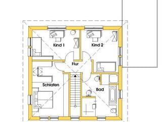 Christine 4 (KfW-Effizienzhaus 40) von Dammann-Haus Grundriss 1
