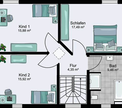 City 9.955 x 8.080 Walmdach floor_plans 0