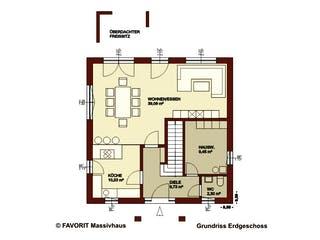 Citylife 143 von Favorit Massivhaus Grundriss 1