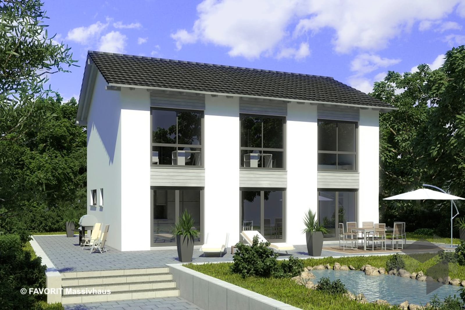 Citylife 147 von favorit massivhaus for Massivhaus modern