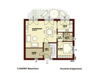 Citylife 147 von Favorit Massivhaus Grundriss 1