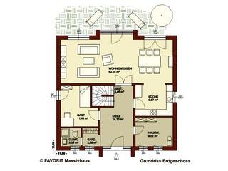 Citylife 178 von Favorit Massivhaus Grundriss 1