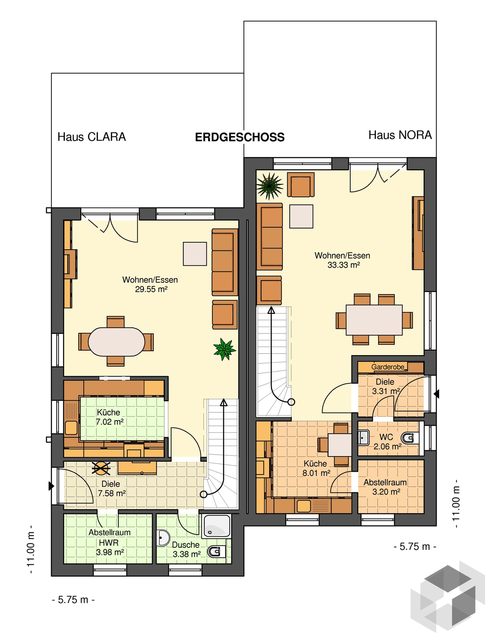 clara 135 dhh von kowalski haus. Black Bedroom Furniture Sets. Home Design Ideas
