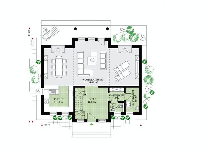 Classic 184 von DAN-WOOD HOUSE - Österreich Grundriss 1