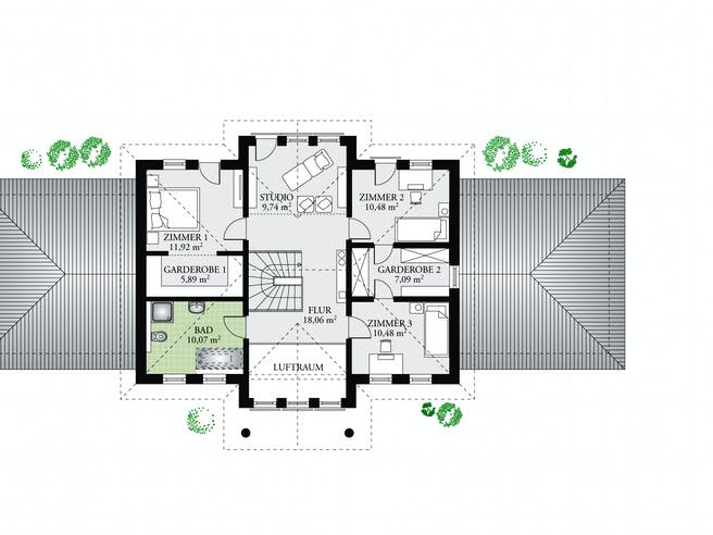 Classic 244 von DAN-WOOD HOUSE Grundriss 1