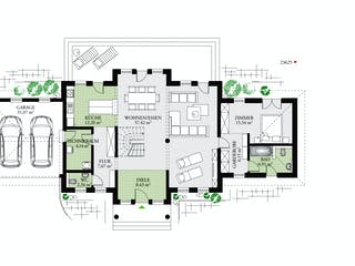 Classic 244 von DAN-WOOD HOUSE - Österreich Grundriss 1
