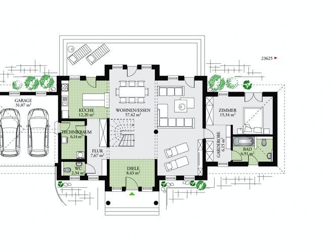 Classic 237 von DAN-WOOD HOUSE - Österreich Grundriss 1