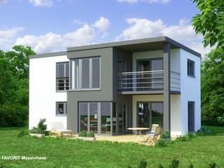 Concept Design 108 von Favorit Massivhaus Außenansicht 1