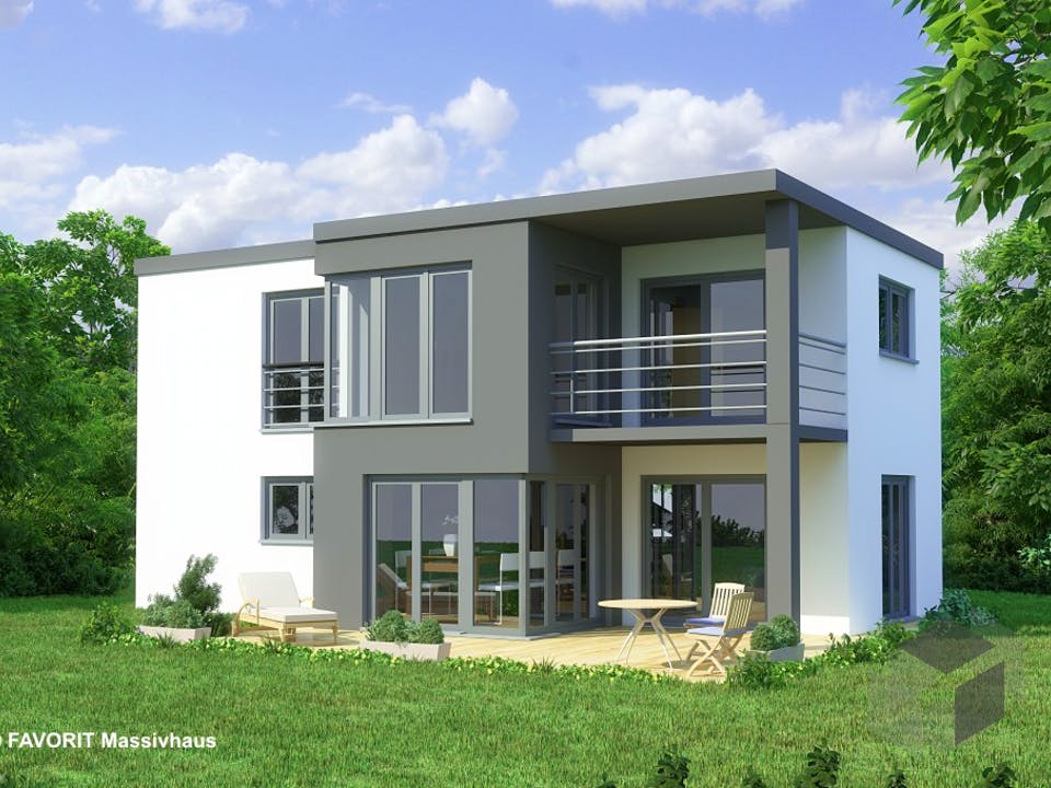 Concept Design 108 von Favorit Massivhaus Außenansicht