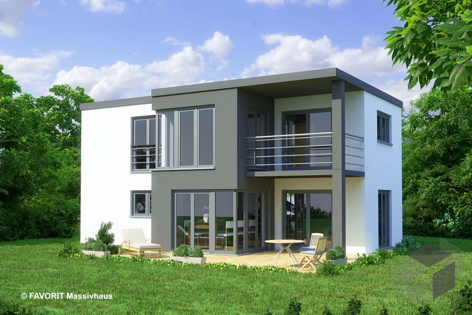 concept design 108 von favorit massivhaus komplette daten bersicht. Black Bedroom Furniture Sets. Home Design Ideas